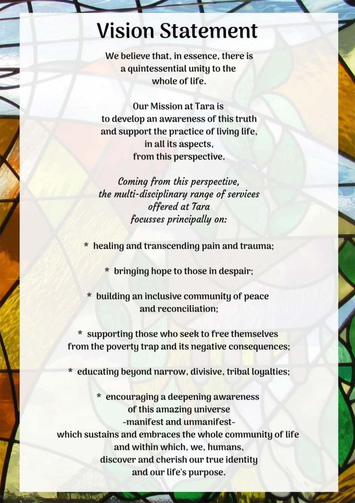 Tara Omagh vision Statement